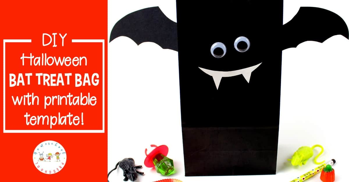diy halloween treat bags bat with printable template. Black Bedroom Furniture Sets. Home Design Ideas