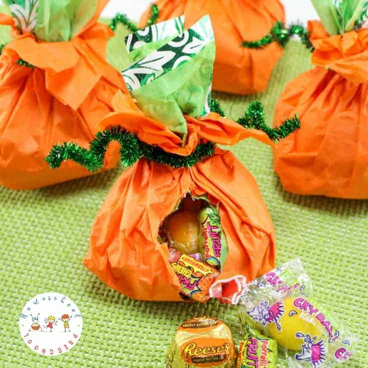 Candy Stuffed Pumpkins: A Simple Pumpkin Craft for Kids