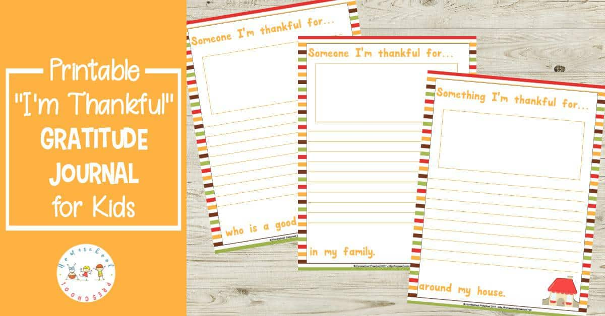 "Instill an attitude of gratitude in your kids with this ""I'm Thankful"" gratitude journal. It's perfect for kids of all ages this Thanksgiving season!"