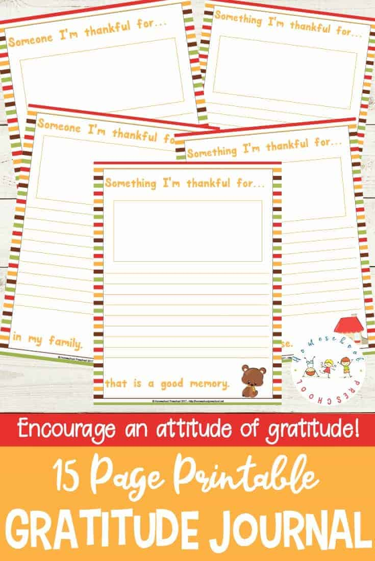"Encourage an attitude of gratitude in your kids with this ""I'm Thankful"" gratitude journal. It's perfect for kids of all ages this Thanksgiving season!"