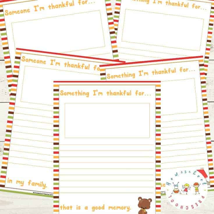 I'm Thankful: A Printable Gratitude Journal for Kids