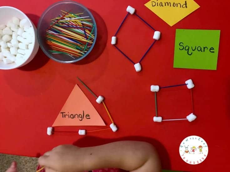 graphic regarding Building With Toothpicks and Marshmallows Printable referred to as Preschool STEM: Developing Styles with Marshmallows and Toothpicks