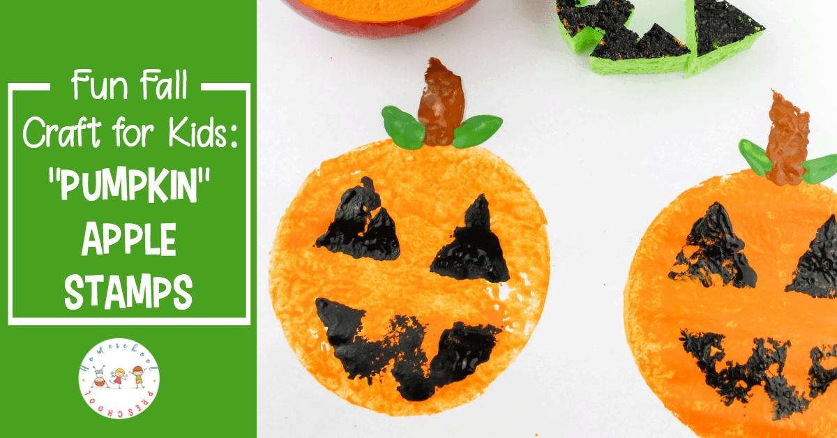 Can your children turn an apple into a pumpkin? They can with this fun autumn craft! These pumpkin apple stamps are fun for kids of all ages.