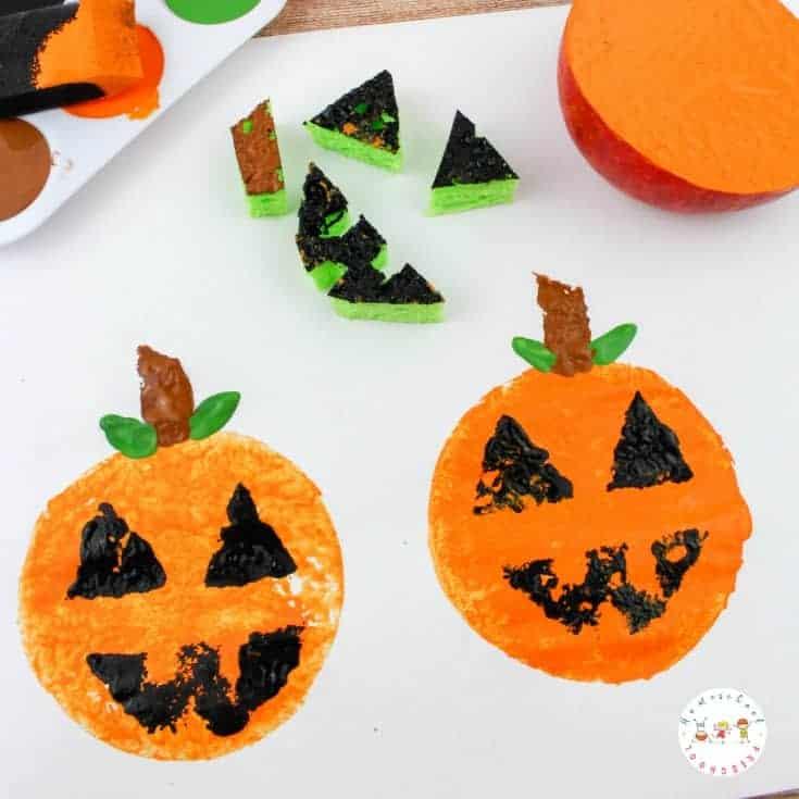 Pumpkin Apple Stamps: A Fun Fall Craft for Kids