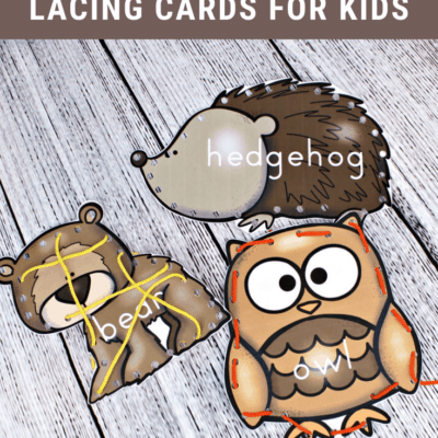 Forest Animal Printable Lacing Cards