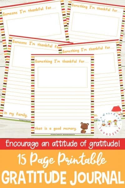 """Encourage an attitude of gratitude in your kids with this """"I'm Thankful"""" gratitude journal for kids. It's perfect for kids of all ages this Thanksgiving season!"""