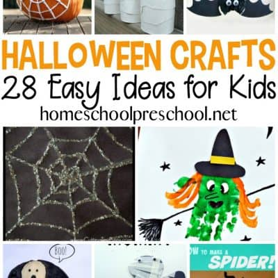 28 MORE Easy to Make Preschool Halloween Crafts
