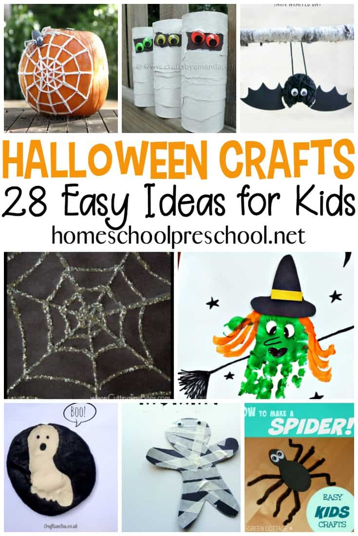 Check out this fun list of preschool Halloween crafts that your little one is sure to love. Many of these crafts use items you already have in your house.