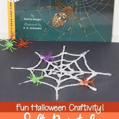 Salt Painted Spider Web Craft