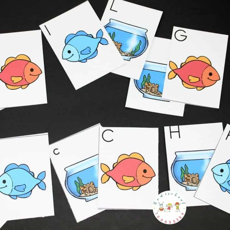 One Fish Two Fish Printable Alphabet Matching Cards