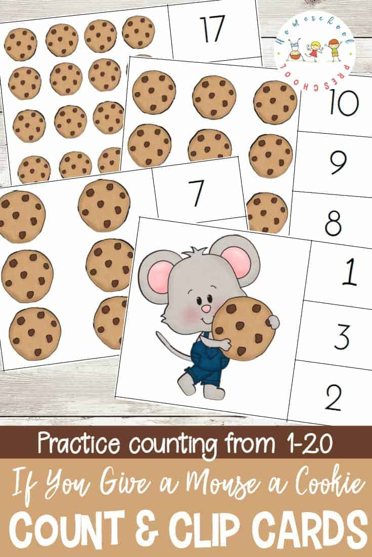 Cookies make everything better - especially math! These cookie count and clip cards will help your students practice counting from 1 to 20.