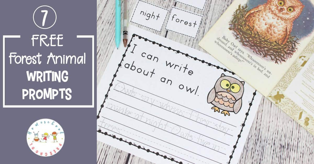 Encourage preschoolers and kindergarteners to write about their favorite forest animals. They'll have a hard time picking just one when you add forest animal writing prompts to your writing center.