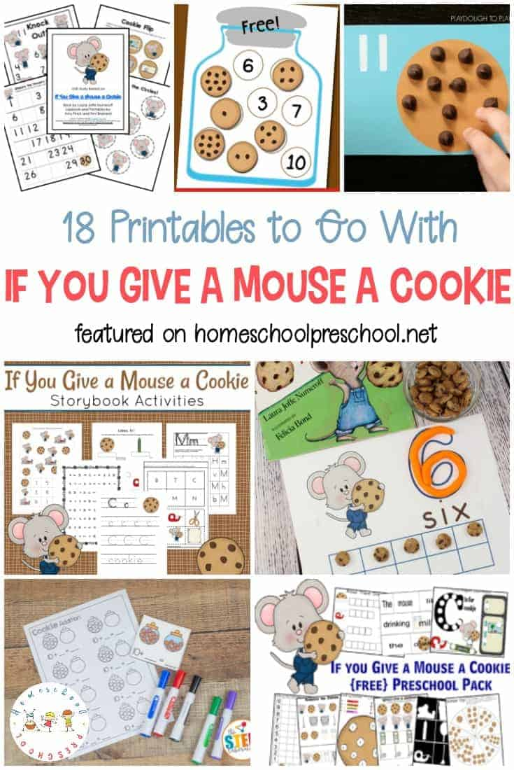 Engage your learners with a collection of If You Give a Mouse a Cookie printables. Little ones will focus on math and literacy skills with their favorite mouse!