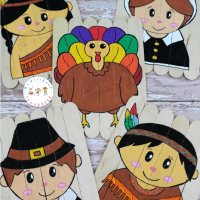 Easy DIY Thanksgiving Popsicle Stick Puzzles