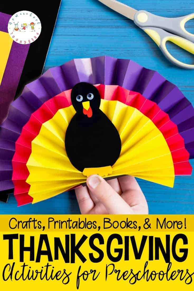 I love incorporating the holidays into my homeschool preschool lessons. With these Thanksgiving activities for preschoolers, you'll be set for the entire month of November!