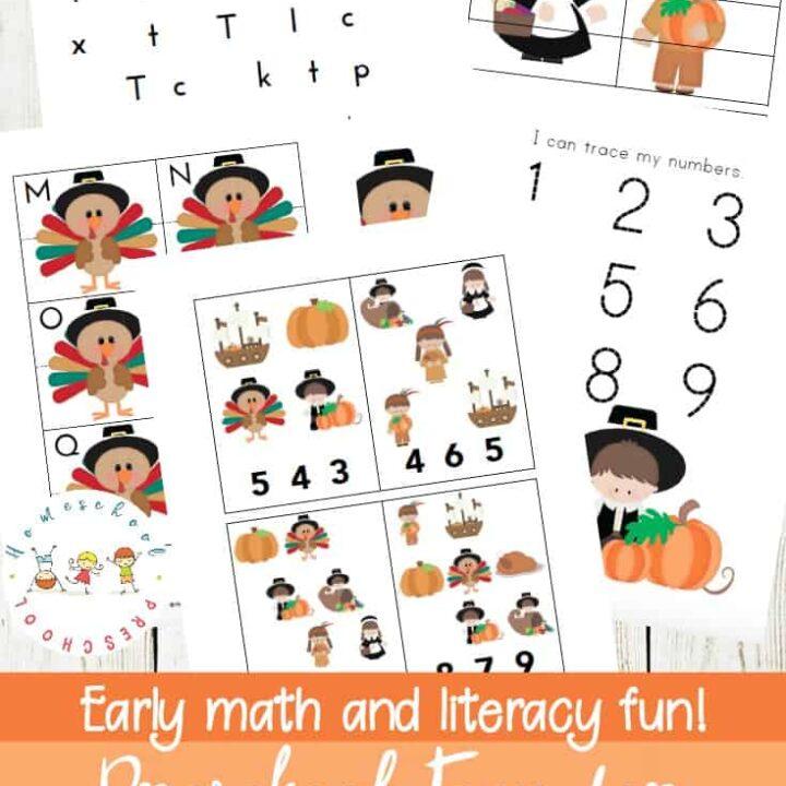 Free Printable Thanksgiving Worksheets For Preschoolers