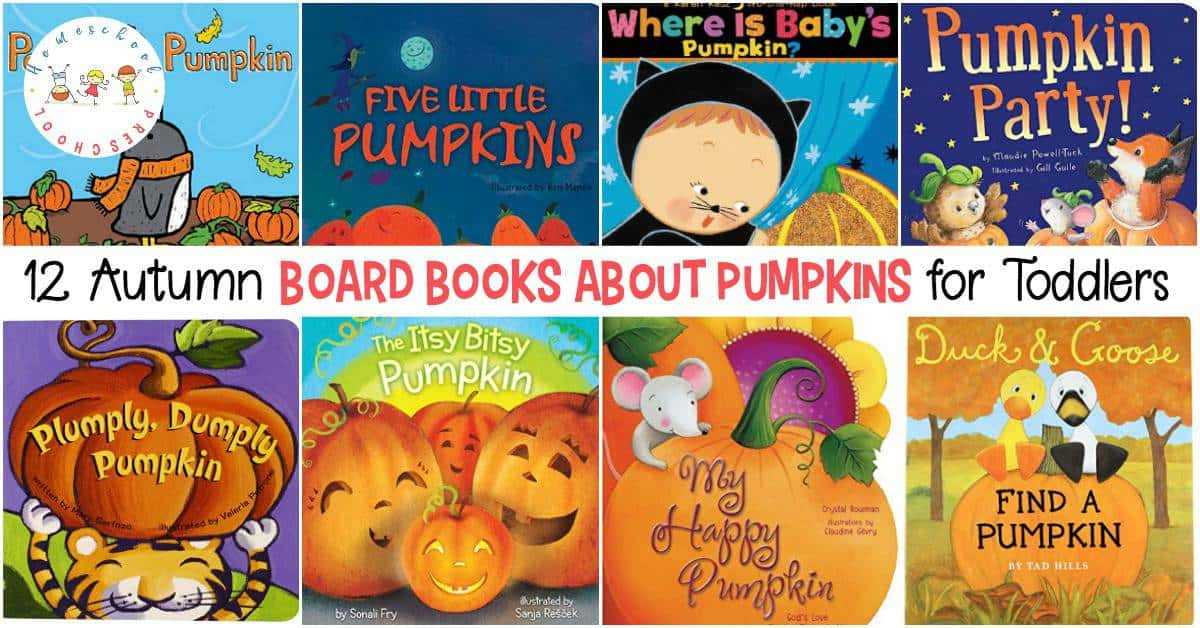 Enjoy the fun of autumn with these board books about pumpkins. Fill your book basket with these books that are perfect for little hands!
