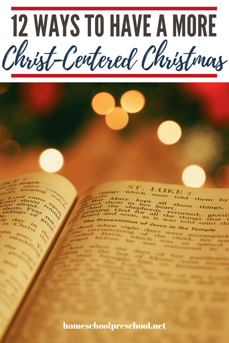 Keep the focus on Christ in the midst of all of the holiday festivities. Here are twelve Christ centered Christmas ideas you can use with your preschoolers.
