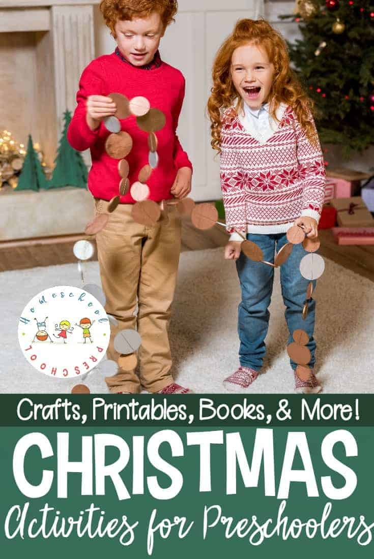 I love incorporating the holidays into my homeschool preschool lessons. With these Christmas activities for preschoolers, you'll be set for the entire month of December!