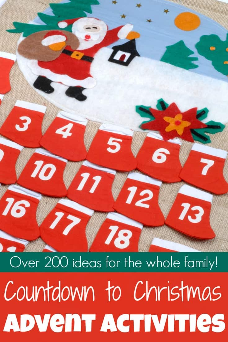 It's time to prepare for Christmas and the birth of our Saviour! The countdown to Christmas is ON with over 200 advent activities for families! #adventactivities #adventcalendar #adventpreschool