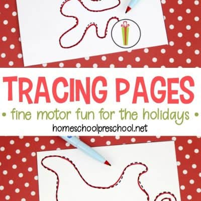 Christmas Trace Activities for Fine Motor Practice