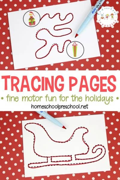 This collection of Christmas trace pages will keep little ones busy. These pages provide fun fine motor practice with a holiday twist!