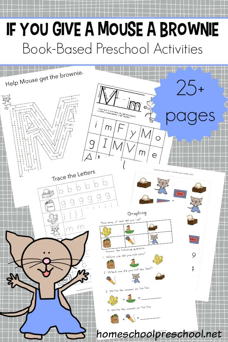 If your young learners love Laura Numeroff's circular stories as much as mine do, they're going to love these fun If You Give a Mouse a Brownie activities.