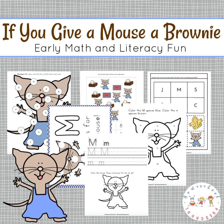 If You Give a Mouse a Brownie Printables for Preschoolers