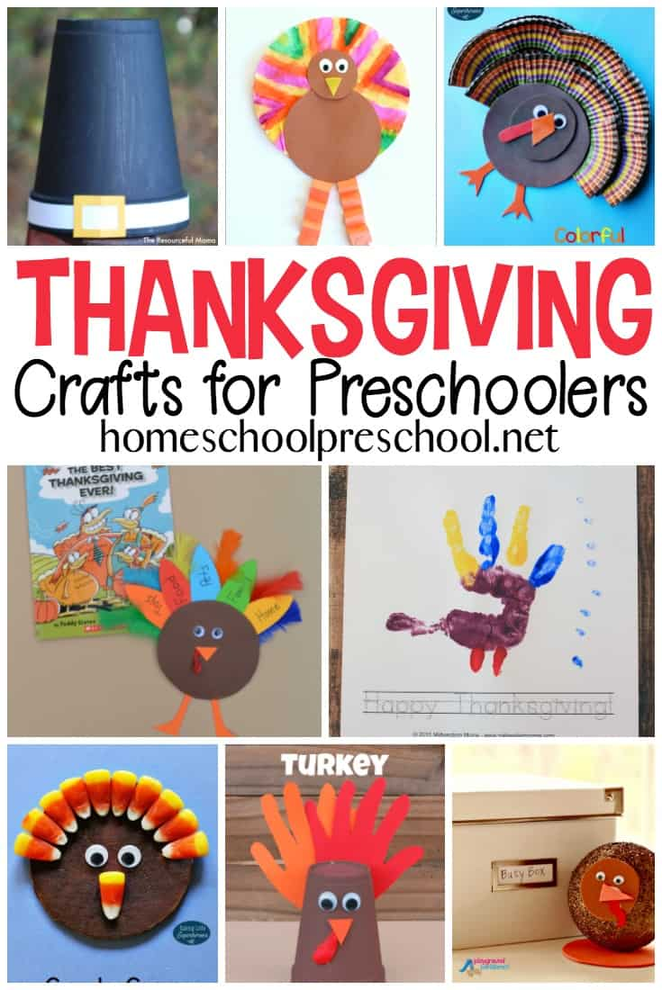 The best preschool Thanksgiving crafts! We've found some great activities that your preschooler can do to get into the Thanksgiving mood!