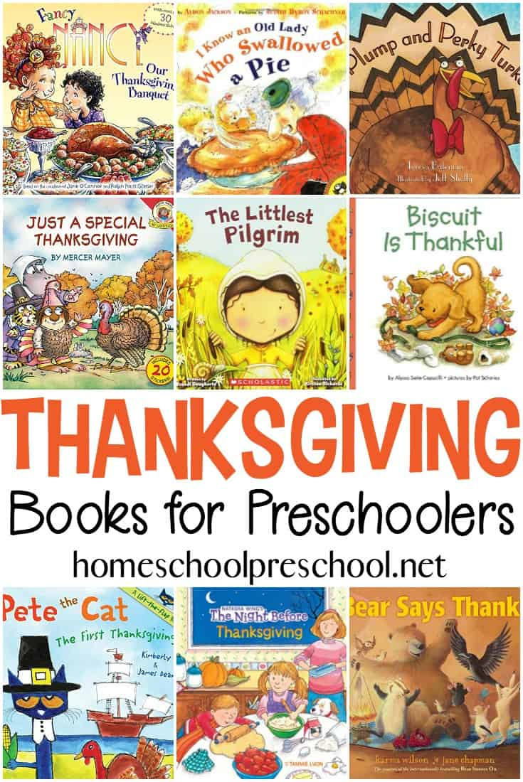 It's the perfect time to stock your little turkey's book basket with Thanksgiving books for preschoolers. Here's a list of more than 20 that you can choose from.
