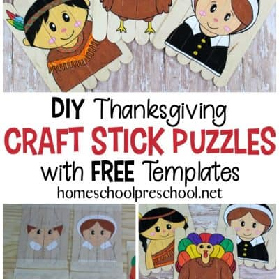 Popsicle Stick Thanksgiving Puzzles