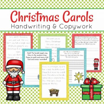 Let your preschoolers practice their handwriting this holiday season with these Christmas Carol handwriting pages. They'll copy verses from popular Christmas Carols.