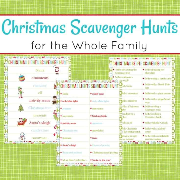 Christmas Scavenger Hunt.Christmas Scavenger Hunts