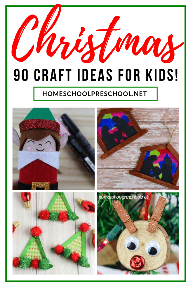 Crafts and activities are the perfect way to entertain your little ones during December. There are over 90 preschool Christmas crafts for kids to choose from!