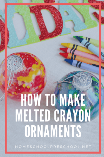 With just a few simple supplies, you and your kids will have a blast making some beautifulmelted crayon ornaments this Christmas.