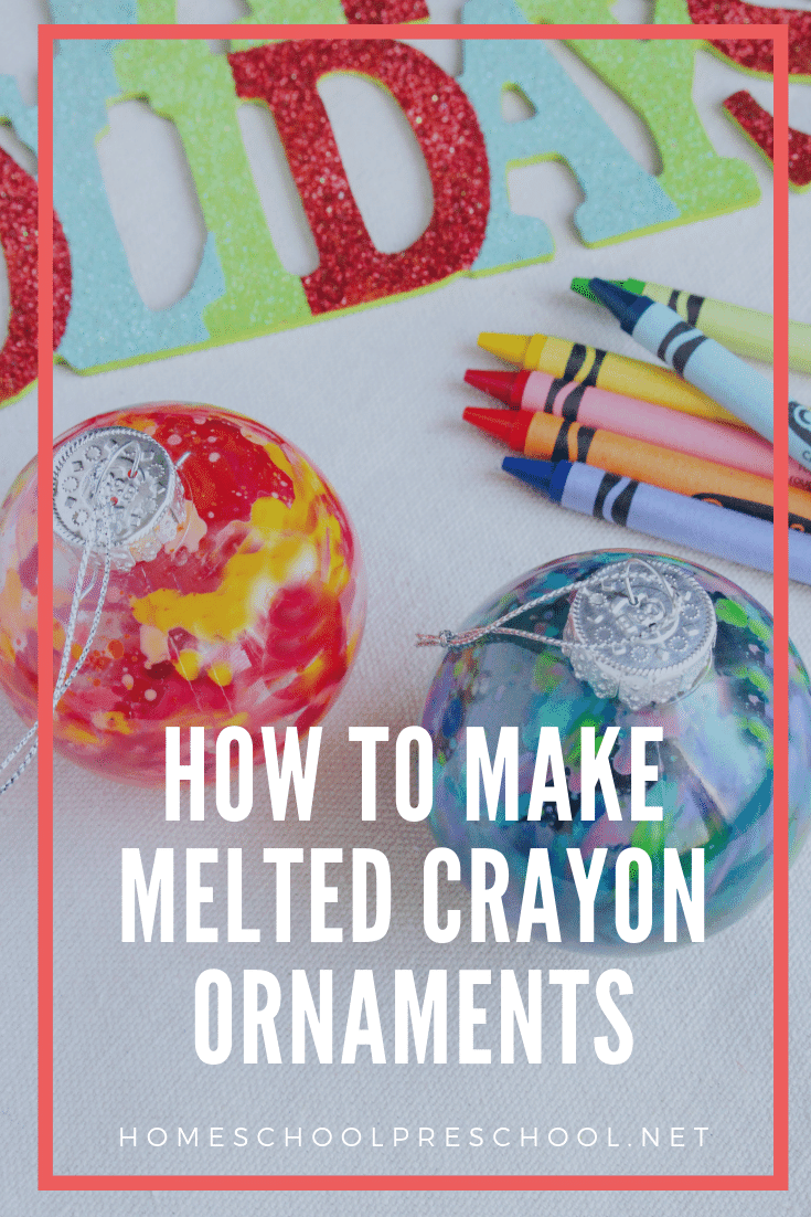 With just a few simple supplies, you and your kids will have a blast making some beautiful melted crayon ornaments this Christmas.