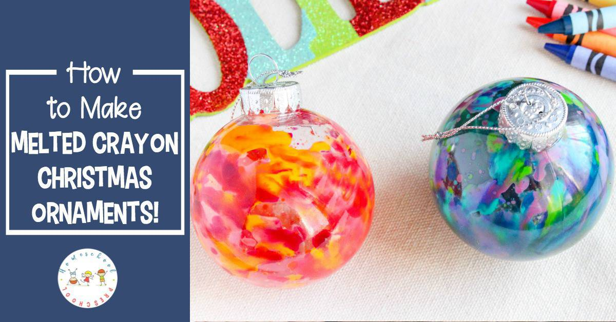 Kids will love the watercolor look of these melted crayon Christmas ornaments. They'll also love how easy they are to make. What a perfect motor skill builder!