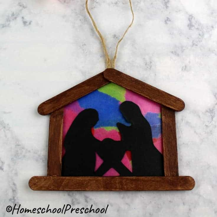 These simple nativity Christmas ornament crafts for kids is not only beautiful on the tree but a perfect afternoon activity for preschoolers!