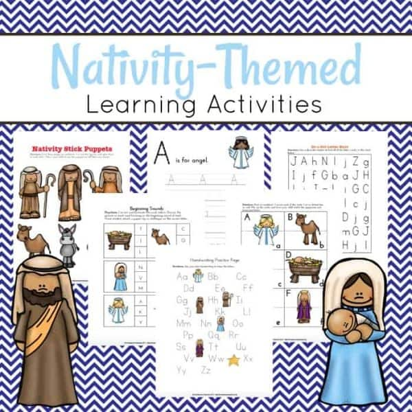 This pack is all about Jesus and the Nativity. Preschoolers will have fun working on beginning math and literacy skills with this nativity preschool learning pack.