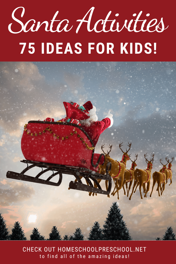 Kids love everything related to Santa during the month of December! This is a fantastic list of Santa activities for kids that the whole family will enjoy.