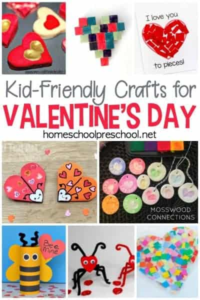 Come find a wonderful collection of fun and engaging kid-friendly crafts for Valentines Day! These easy craft projects are the perfect way to share some love.
