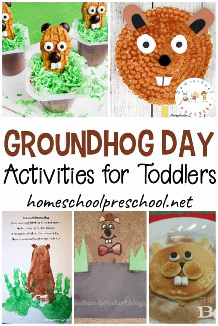 This post is packed full of Groundhog Day activities for toddlers. You'll discover fun books, fine motor activities, snack ideas, crafts, and more!