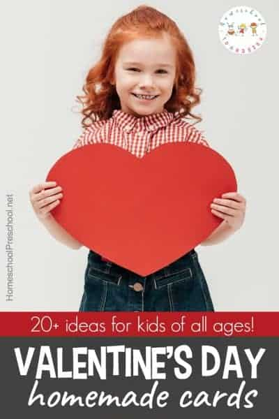Your crafty kids will love all of these homemade Valentines card ideas! Set up your craft supplies, and let kids show friends and family some love.