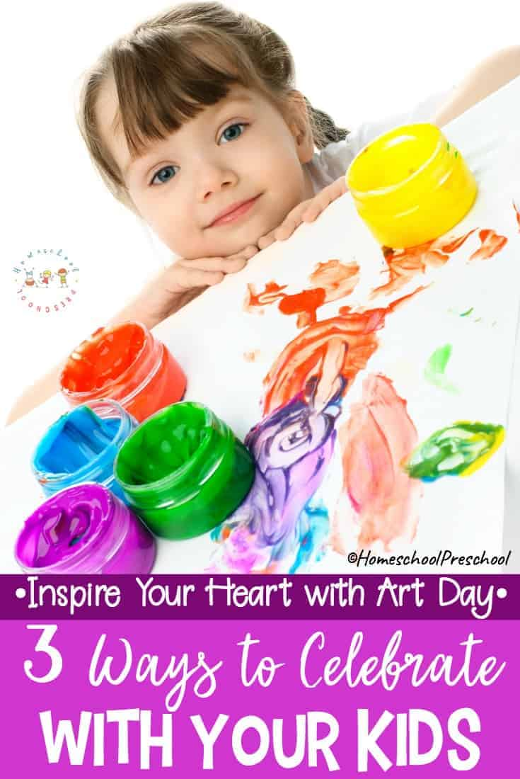 Did you know that January 31st is Inspire Your Heart with Art Day? Celebrating this fun holiday is a great way to introduce your preschoolers to art!