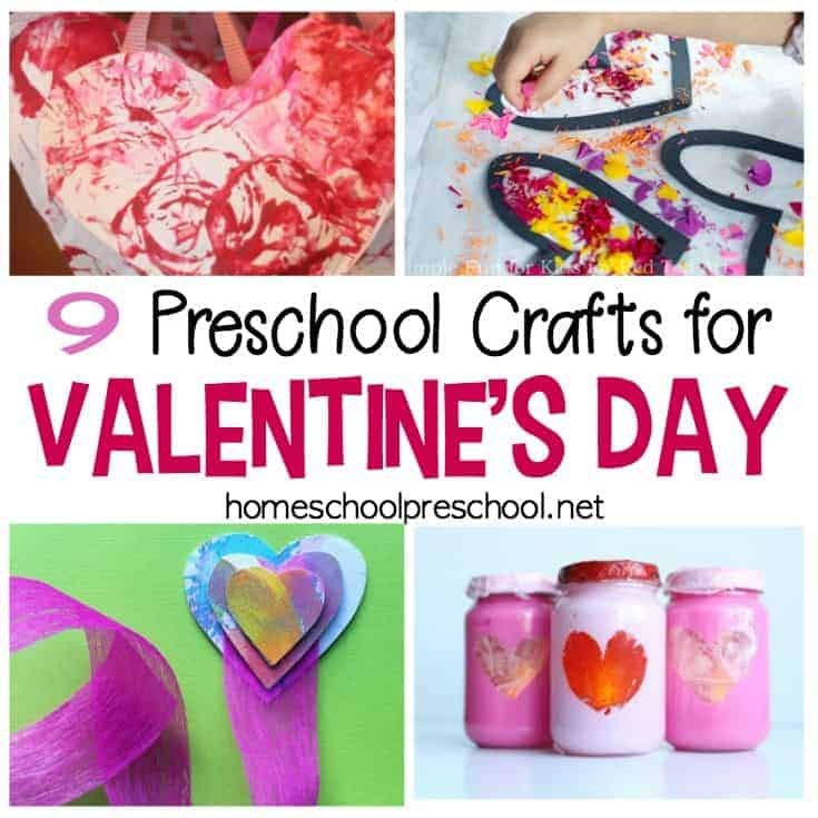 Preschoolers love crafting, and these Valentines Crafts for Preschoolers will make great handmade holiday gifts and decorations. Discover nine fun ideas!