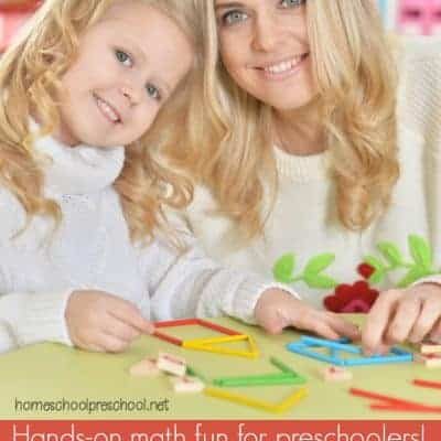 How to Teach Preschool Numbers and Counting with Straws