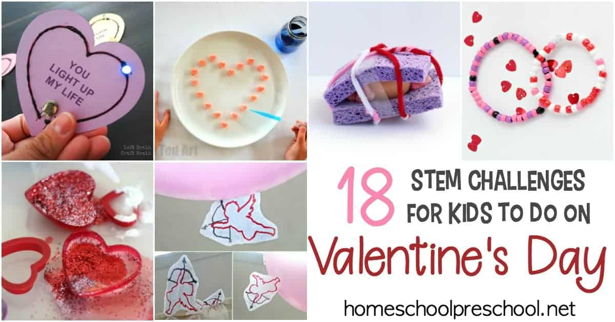 Discover 18 engaging Valentine STEM activities and challenges for kids! Find fizzing hearts, flying cupids, coding for kids, and much more in this collection.