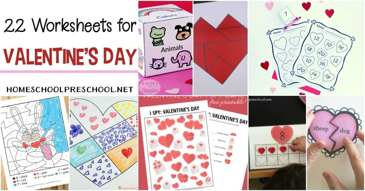 picture about Free Printable Valentine Worksheets titled 24 Free of charge Printable Valentines Worksheets for Young children
