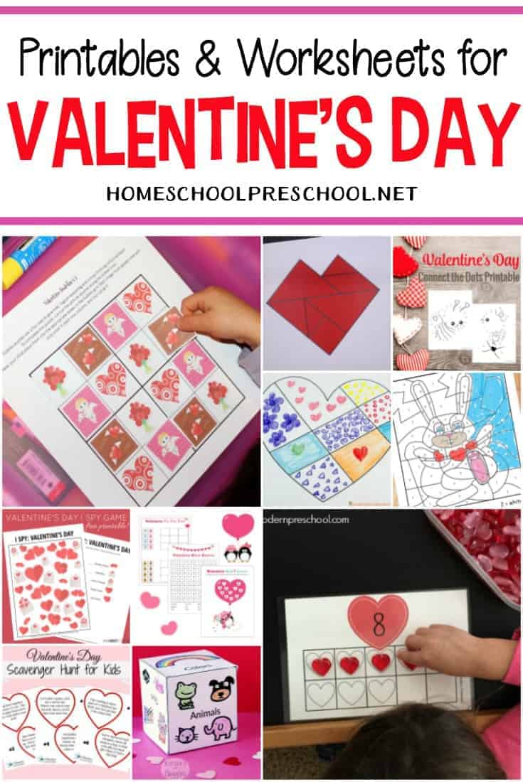 Happy Valentine's Day! Here is a great collection of Valentines worksheets featuring activities that focus on early math and literacy skills, fine motor activities, and more!