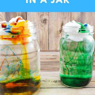 How to Make a Rain Cloud in a Jar